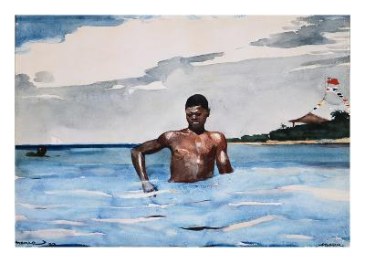The Bather-Winslow Homer-Giclee Print
