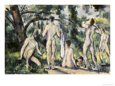 The Bathers-Paul C?zanne-Giclee Print
