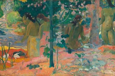 The Bathers-Paul Gauguin-Art Print