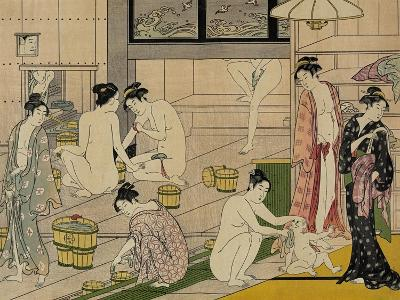 The Bathhouse Women, 1790S-Torii Kiyonaga-Giclee Print