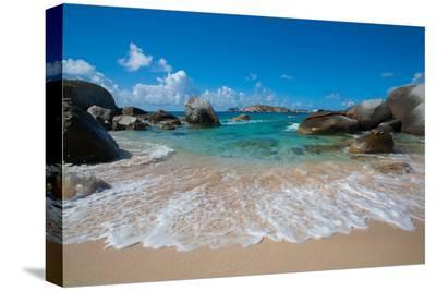 The Baths' Beach on Virgin Gorda-Matt Propert-Stretched Canvas Print
