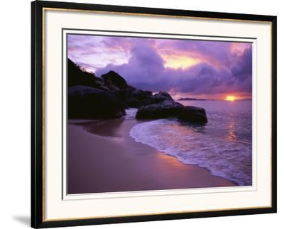 The Baths in Virgin Islands-Nik Wheeler-Framed Photographic Print