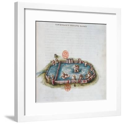 The Baths of Bourbon L'Archambaut--Framed Giclee Print