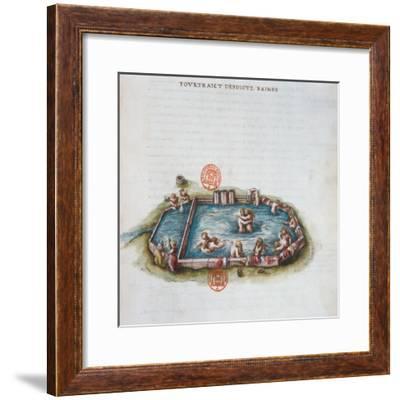 The Baths of Bourbon L'Archambaut--Framed Giclee Print