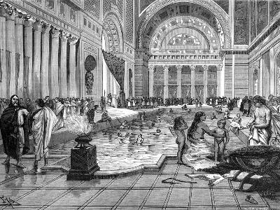 The Baths of Charlemagne, 8th-9th Century-A Tauxier-Giclee Print