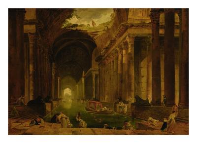The Baths-Hubert Robert-Giclee Print