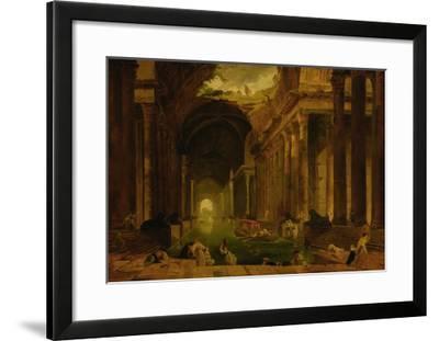 The Baths-Hubert Robert-Framed Giclee Print