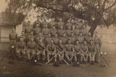 The Battalion Signallers of the First Battalion, the Queen's Own Royal West Kent Regiment--Photographic Print