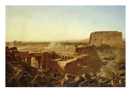 The Battle at the Temple of Karnak: the Egyptian Campaign-Jean Charles Langlois-Giclee Print