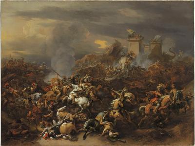 The Battle Between Alexander and Porus-Nicolaes Pietersz^ Berchem-Giclee Print