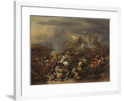 The Battle Between Alexander and Porus-Nicolaes Pietersz^ Berchem-Framed Giclee Print