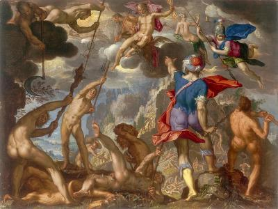 The Battle Between the Gods and the Giants, C.1608-Joachim Wtewael-Giclee Print
