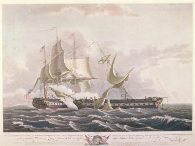 The Battle Between the Uss Constitution and the Hms Guerriere-Thomas Birch-Giclee Print