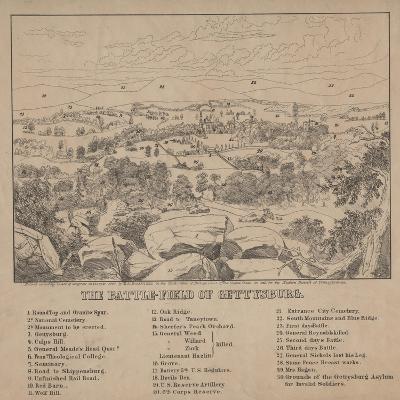 The Battle-Field of Gettysburg, C.1867-Louis N. Rosenthal-Giclee Print