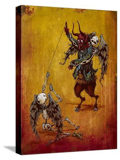 The Battle For Your Soul-David Lozeau-Stretched Canvas Print