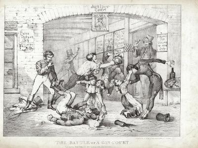 The Battle of A-Gin-Court--Giclee Print