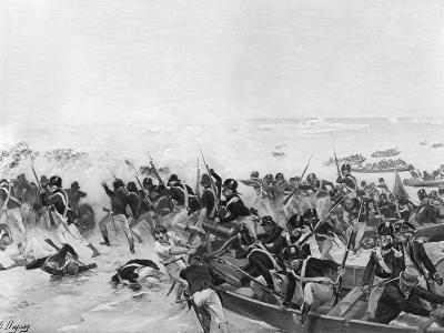The Battle of Aboukir, Egypt, 1801-Henri-Louis Dupray-Giclee Print