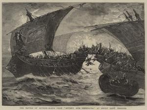 The Battle of Actium, Scene from Antony and Cleopatra at Drury Lane Theatre