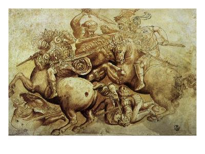 The Battle of Anghiari, 1500-Leonardo da Vinci-Giclee Print