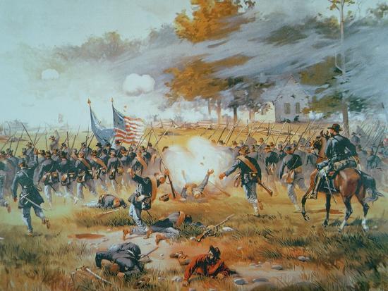 The Battle of Antietam, 1862-Thure De Thulstrup-Giclee Print