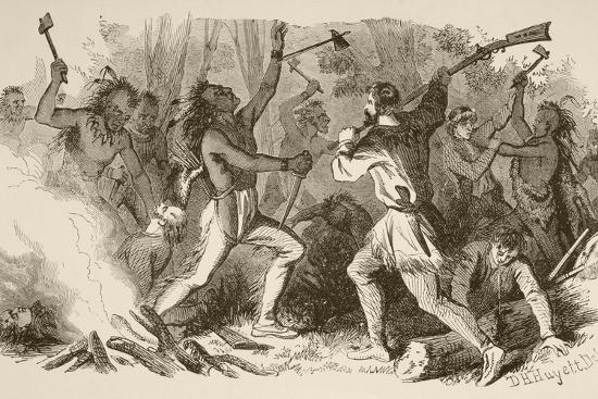 The Battle of Bloody Brook on September the 18Th, 1675--Giclee Print