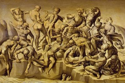 The Battle of Cascina, or the Bathers, after Michelangelo (1475-1564), 1542-Aristotile da Sangallo-Giclee Print