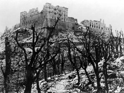 The Battle of Cassino: The Abbey of Monte Cassino Reduced to Rubble Following the Heavy Allied…