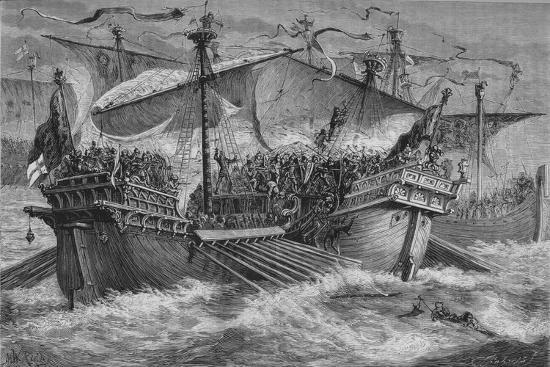 'The Battle of Dover', 24 August 1217, (c1880)-Unknown-Giclee Print