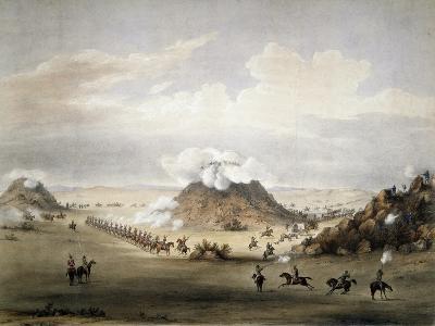 The Battle of Driekoppen Near Zwaartkopjes-Paul Gauci-Giclee Print