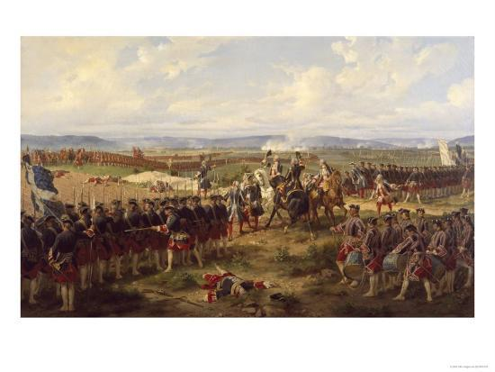 The Battle of Fontenoy, c.1745-Felix Philippoteaux-Giclee Print