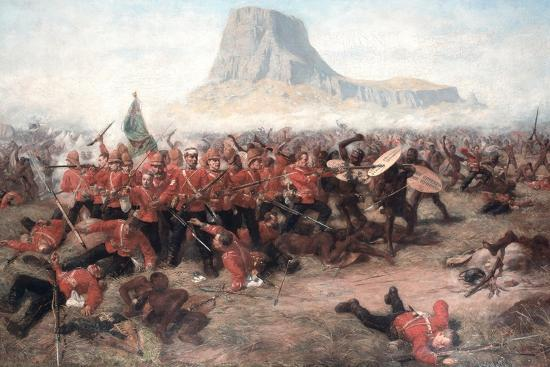 The Battle of Isandlwana: the Last Stand of the 24th Regiment of Foot  (South Welsh Borderers)…' Giclee Print - Charles Edwin Fripp | Art.com