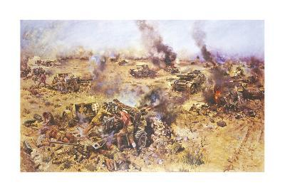 The Battle of Knightsbridge, 1942-Terence Cuneo-Premium Giclee Print