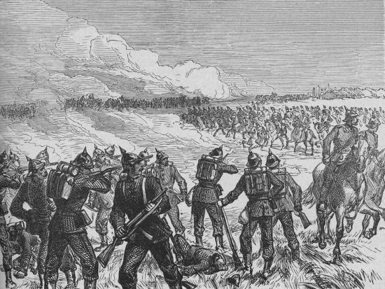'The Battle of Langensalza', c1890-Unknown-Giclee Print