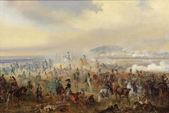The Battle of Leipzig in October 1813, 1886-Gottfried Willewalde-Giclee Print