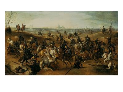 The Battle of Lekkerbeetje or the Battle of Vught Heath with a View of 'S-Hertogenbosch'-Sebastiaen Vrancx-Giclee Print