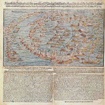 The Battle of Lepanto-Hans Rogel-Giclee Print