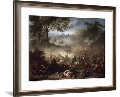The Battle of Lesnaya, 1717-Jean-Marc Nattier-Framed Giclee Print