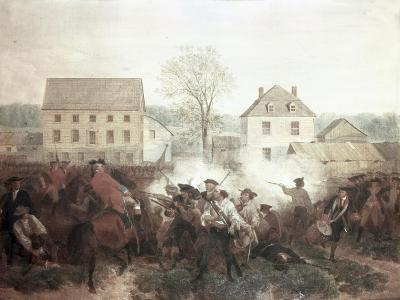 The Battle of Lexington-Alonzo Chappel-Giclee Print