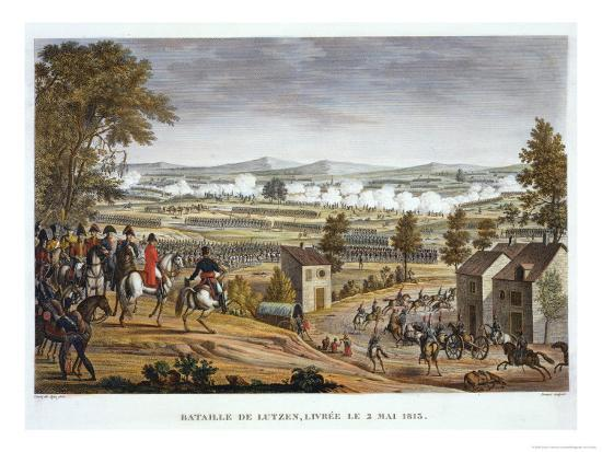 The Battle of Lutzen, 2 May 1813-Louis Francois Couche-Giclee Print