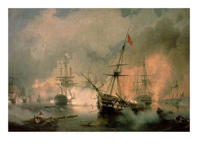 Ivan Aivazovsky The Battle of Navarino 1846 Print 60x80cm