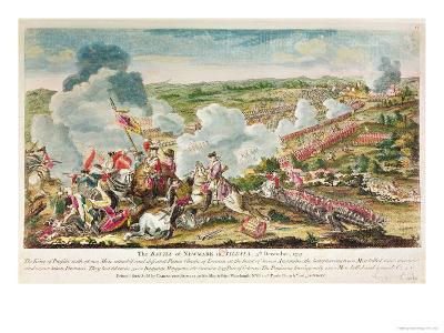 The Battle of Neumark, Silesia 5th December, 1757--Giclee Print