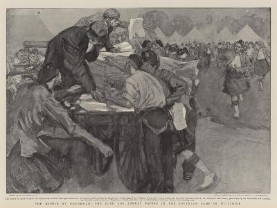 The Battle of Omdurman, the Rush for Sunday Papers in the Southern Camp in Wiltshire-William Hatherell-Giclee Print