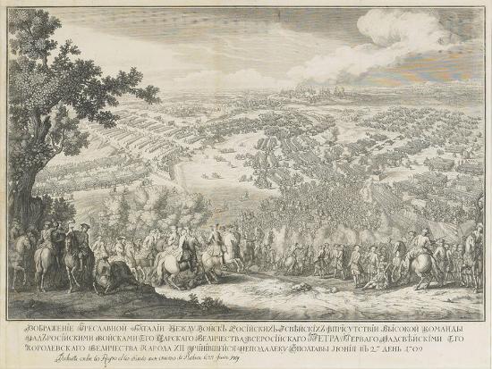 The Battle of Poltava on 27 June 1709-Nicolas de Larmessin-Giclee Print