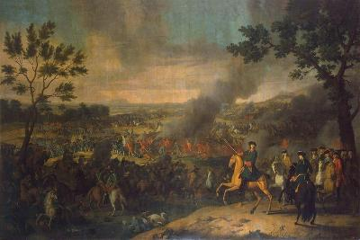 The Battle of Poltava on 27th June 1709, 1717-1718-Louis Caravaque-Giclee Print