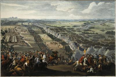 The Battle of Poltava on 27th June 1709, after 1724-Pierre-Denis II Martin-Giclee Print