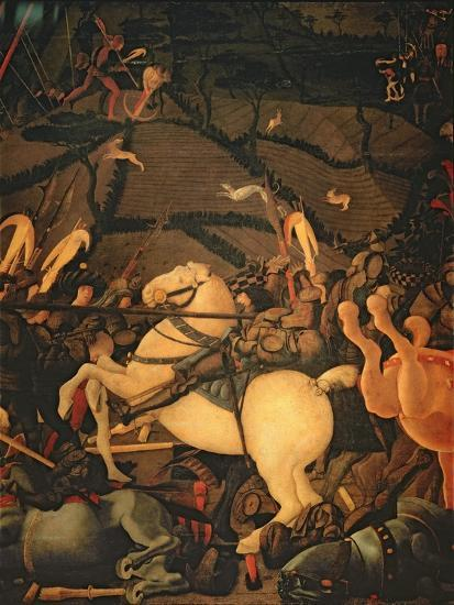 The Battle of San Romano in 1432, c.1456-Paolo Uccello-Giclee Print