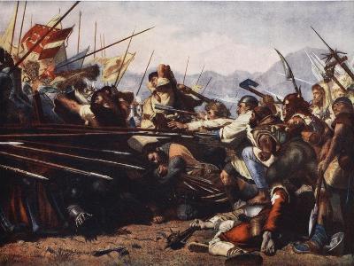 The Battle of Sempach, 1386-Konrad Grob-Giclee Print