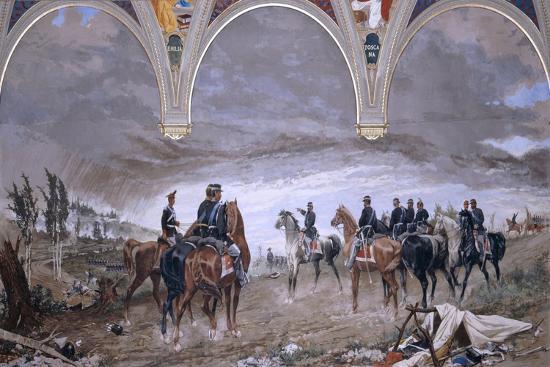 The Battle of Solferino, 1886-Amos Cassioli-Giclee Print