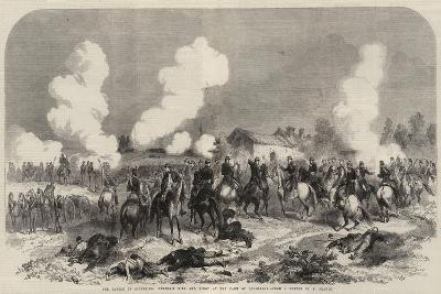 The Battle of Solferino, Generals Niel and Vinoy at the Farm of Quagliara--Giclee Print