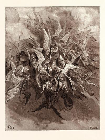 The Battle of the Angels-Gustave Dore-Giclee Print